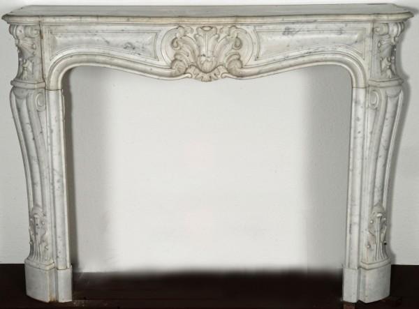 stil: louis XV,   weißer  marmorkamin