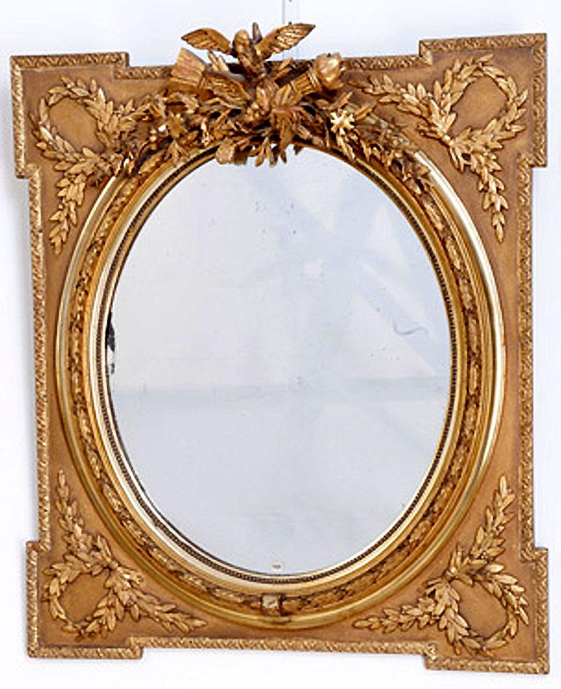 ovaler spiegel im rahmen antike spiegel oellers antik antike spiegel und kamine. Black Bedroom Furniture Sets. Home Design Ideas