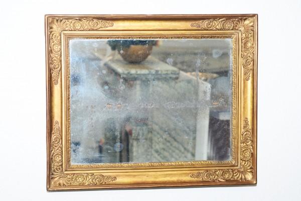 fein gearbeiteter, goldener spiegel  - bleiverglasung -