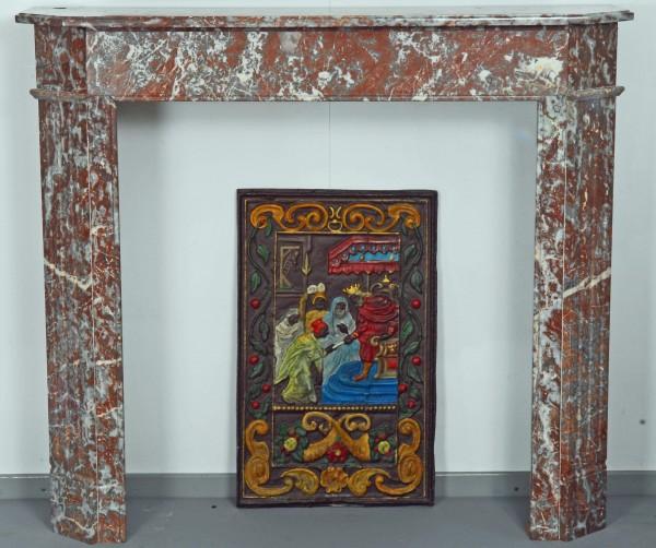 Stil: Louis XVI, Farbe: belgisch Rot,  Ausführung: Marmor