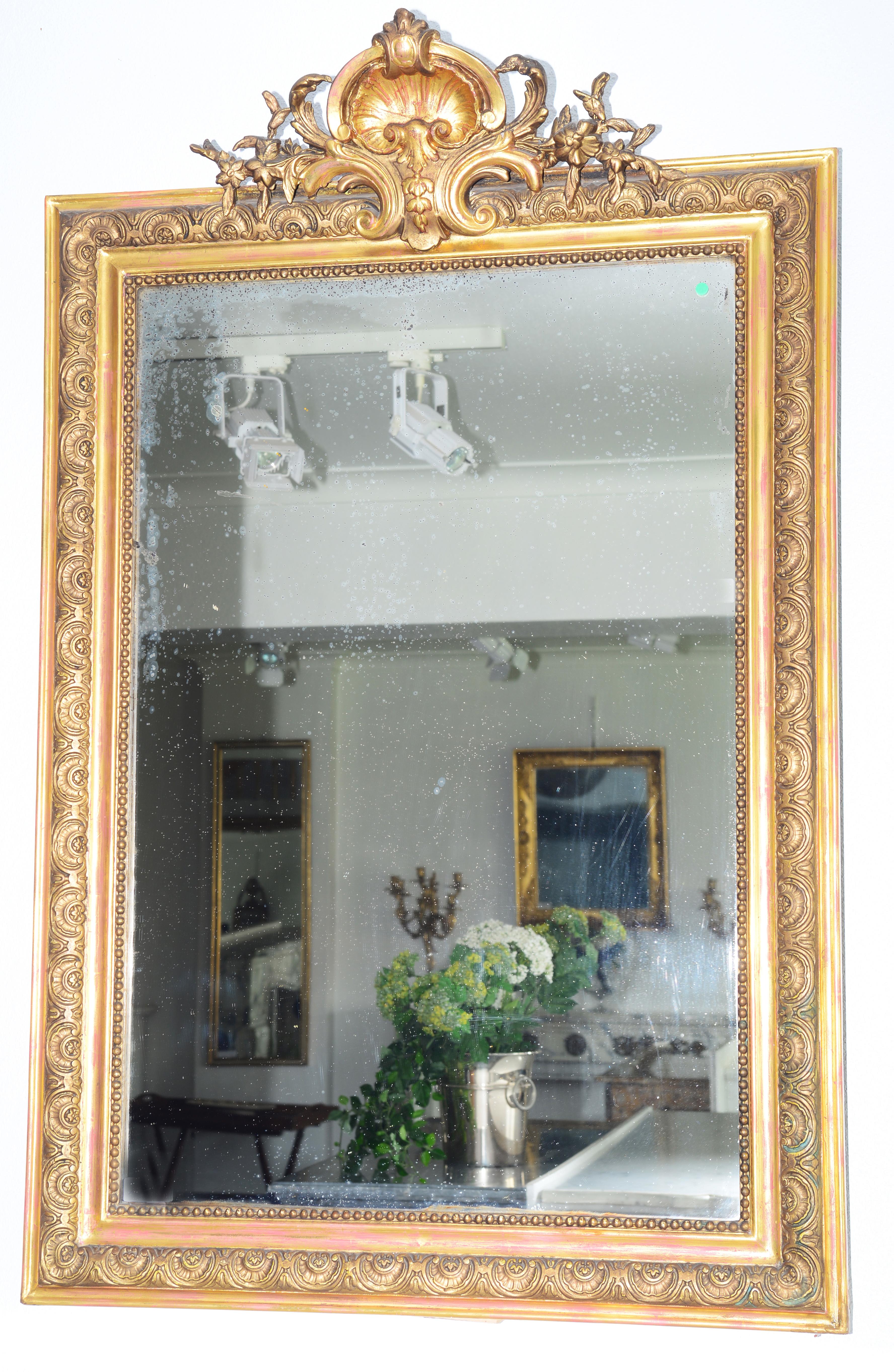 edler antiker wandspiegel polimentvergoldet oellers. Black Bedroom Furniture Sets. Home Design Ideas