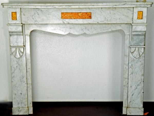 Marmorkamin weiß/grau; Stil ca 1890