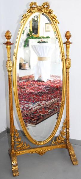 goldener garderobenspiegel aus dem 19. jahrhundert