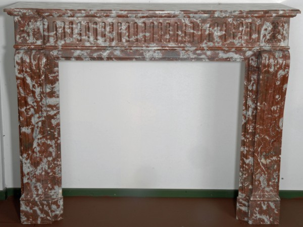 Stil: Louis XVI, Farbe: braun/weiß,  Ausführung: Marmor