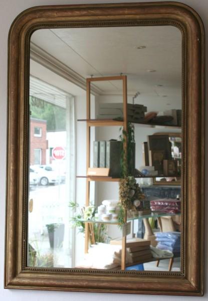 schöner eleganter und schlichter spiegel aus dem 19. jahrhundert