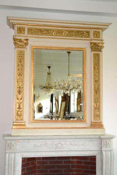 schöner kaminaufsatz-spiegel aus dem 19. jahrhundert