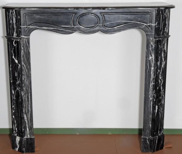 Stil: Pompadour, Farbe: schwarz/weiß, Ausführung: Marmor