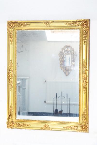 wunderschön gearbeiteter goldener spiegel aus dem 19. jahrhundert