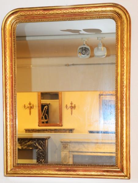 schön gearbeiteter schlichter goldener spiegel aus dem 18./19.jahrhundert