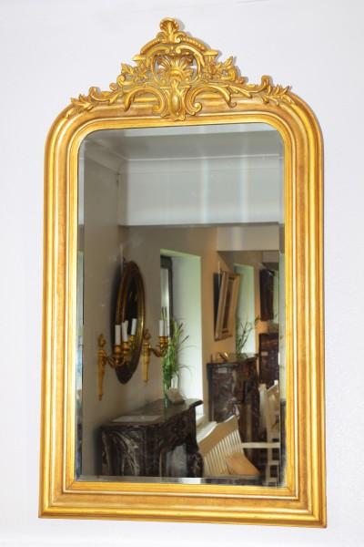 fein gearbeiteter, goldener spiegel aus dem 18./19. jahrhundert