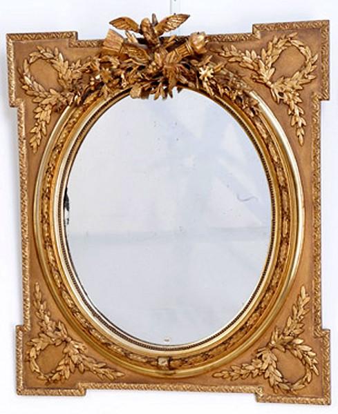 schön gearbeiteter goldener spiegel aus dem 19. jahrhundert