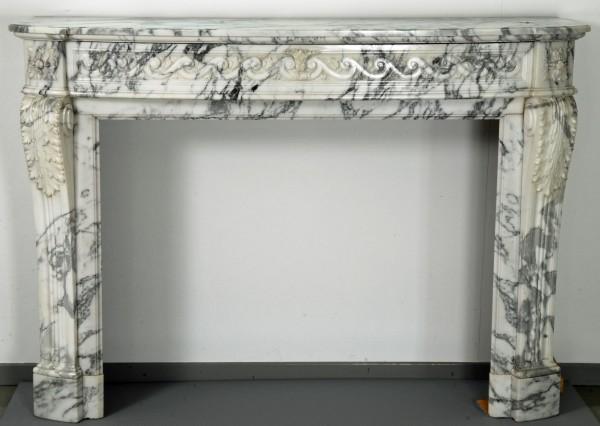 Stil: Louis XVI,  Farbe: creme-grau,  Ausführung: Marmor
