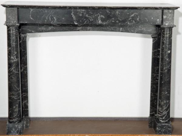 Stil: unbekannt, Farbe: schwarz,grau,  Ausführung: Marmor