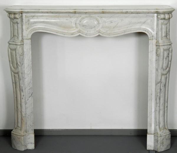 Stil: Pompadour, Farbe: carrara-weiß,  Ausführung: Marmor