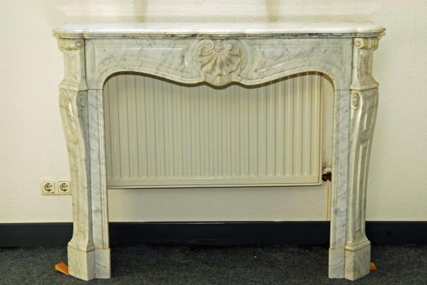 carrara weißer marmorkamin
