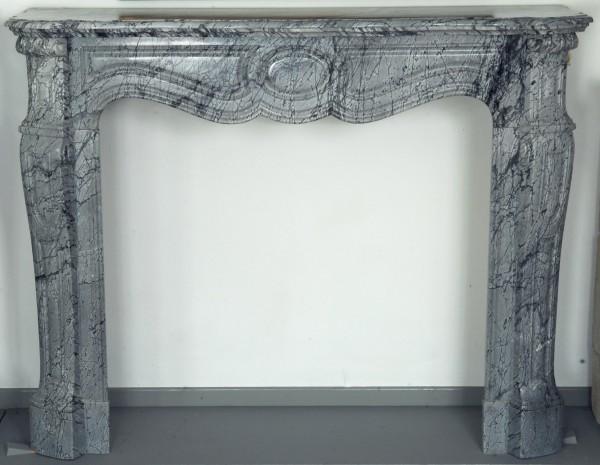Stil: Pompadour, Farbe: grau,  Ausführung: Marmor