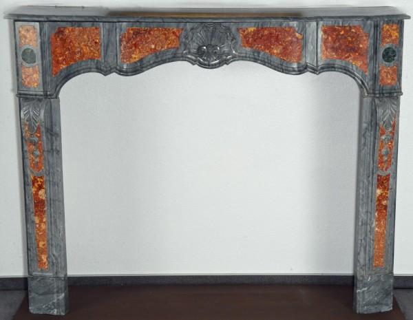 Stil: Pompadour, Farbe: kakao,napoleonbraun, grau/rot gefleckt,  Ausführung: Marmor