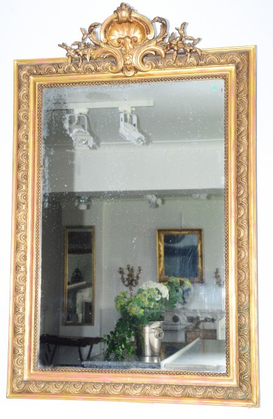 fein gearbeiteter spiegel aus dem 19. jahrhundert