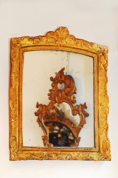 schön gearbeiteter goldener spiegel aus der bretagne
