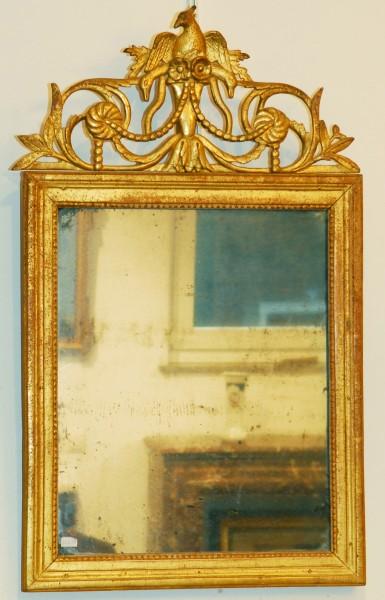 schön gearbeiteter goldener spiegel aus dem 18. jahrhundert mit abnehmbarem kopfteil