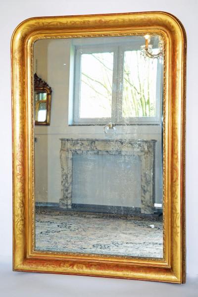 fein gearbeiteter, grosser goldener spiegel