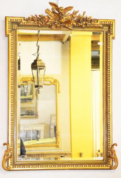 aufwendig gearbeiteter, goldener spiegel aus dem 18./19. jahrhundert